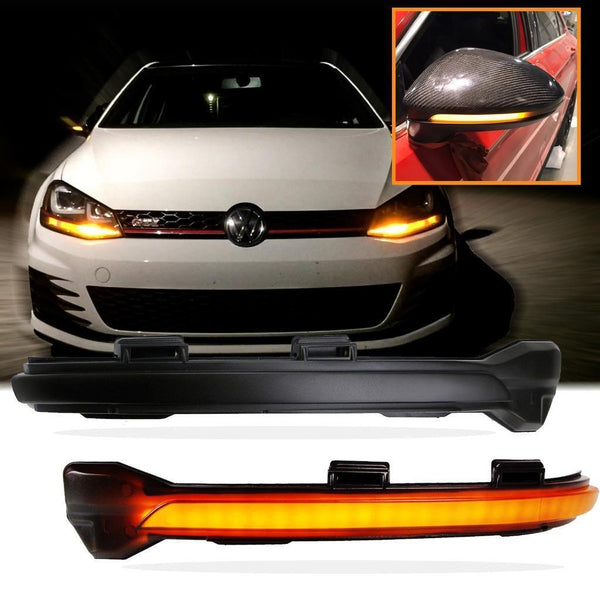 OEM Side Mirror Sequential Blink Turn Signal Light for VW MK7 Golf GTI 2015-up - Pinalloy