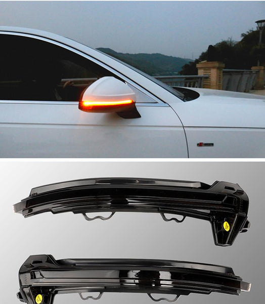 OEM Side Mirror Sequential Blink Turn Signal Light for Audi A4 B9 2017-up - Pinalloy