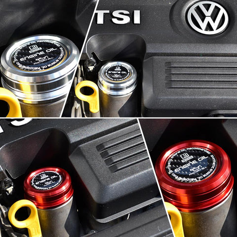 Pinalloy Aluminum Engine Oil Cap For Volkswagen VW 1.4T MK7 Golf Jetta Tiguan Wolfsburg Audi 1.4 Turbo Engine - Pinalloy Online Auto Accessories Lightweight Car Kit
