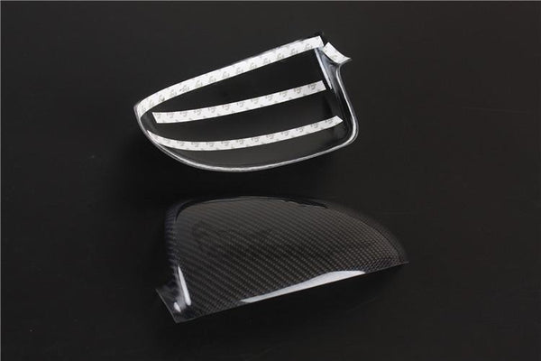 Pinalloy Real Carbon Fiber Tape-on Mirror Covers for 2008-2014 Benz Smart Fortwo 451 - Pinalloy Online Auto Accessories Lightweight Car Kit
