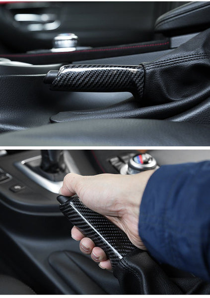 Pinalloy Carbon Fiber Central Handbrake Trim Decals Fit For BMW 1 3 X Series E90 F30 F35 2013-2017 - Pinalloy Online Auto Accessories Lightweight Car Kit