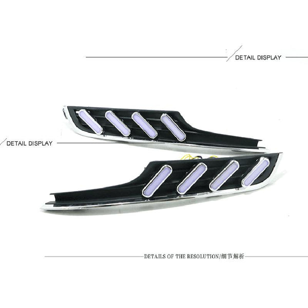 Pinalloy Fog Light Trim with Sequential Blink Turn Signal Light for VW Volkswagen MK7 2014-2016 - Pinalloy Online Auto Accessories Lightweight Car Kit