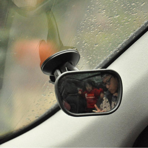 Pinalloy Convex Clip On Half Oval Rear View Conter Blind Spot Angle Auxiliary Mirror - Pinalloy