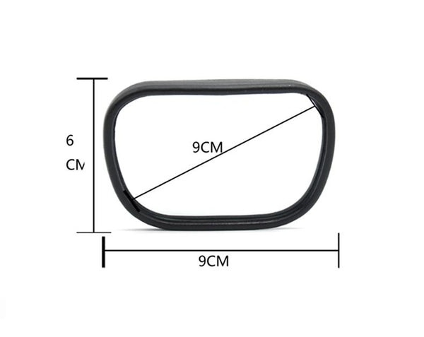 Pinalloy Convex Clip On Half Oval Rear View Conter Blind Spot Angle Auxiliary Mirror - Pinalloy Online Auto Accessories Lightweight Car Kit