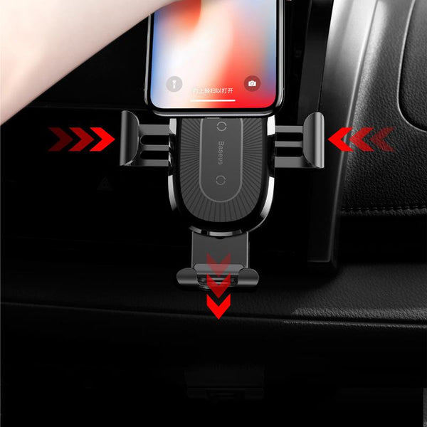 Pinalloy Wireless Charging Auto Open Phone Holder Mount Stand Cradle Car Charger for iPhone x/8/8+ Galaxy S7 S7+ S8 S8+ S9 S9+ Note 8 Note 9 - Pinalloy Online Auto Accessories Lightweight Car Kit