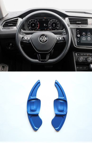 Pinalloy Blue DSG Paddle Shifter Extension for Volkswagen Tiguan L Teramont PHIDEON C-TREK (Ver.2) - Pinalloy Online Auto Accessories Lightweight Car Kit