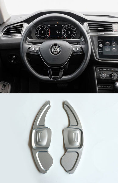 Pinalloy Silver DSG Paddle Shifter Extension for Volkswagen Tiguan L Teramont PHIDEON C-TREK (Ver.2) - Pinalloy Online Auto Accessories Lightweight Car Kit