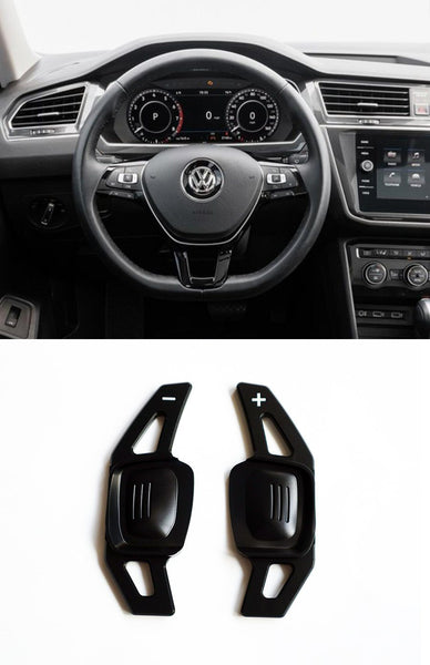 Pinalloy Black DSG Paddle Shifter Extension for Volkswagen VW Tiguan L Teramont PHIDEON C-TREK - Pinalloy Online Auto Accessories Lightweight Car Kit