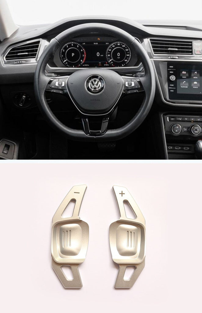 Pinalloy Silver DSG Paddle Shifter Extension for Volkswagen VW Tiguan L Teramont PHIDEON C-TREK - Pinalloy Online Auto Accessories Lightweight Car Kit