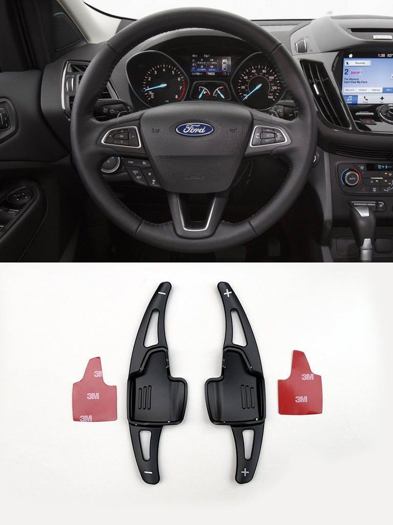 Pinalloy Black Metal DSG Paddle Shifter Extensions for Ford Focus 2015-2018 Escape Ecosport - Pinalloy Online Auto Accessories Lightweight Car Kit