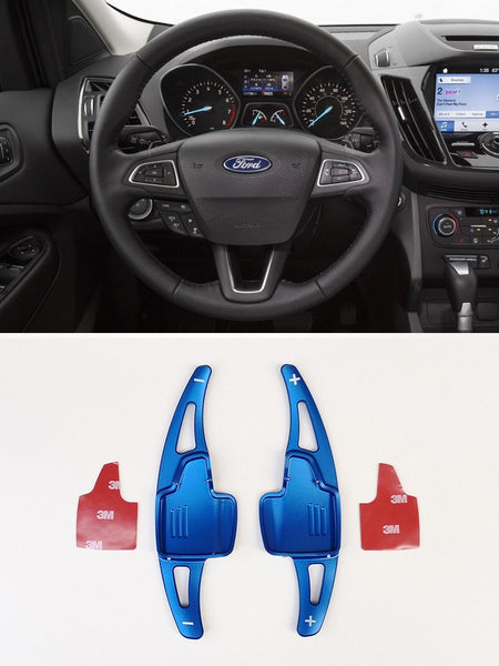 Pinalloy Blue Metal DSG Paddle Shifter Extensions for Ford Focus 2015-2018 Escape Ecosport - Pinalloy Online Auto Accessories Lightweight Car Kit