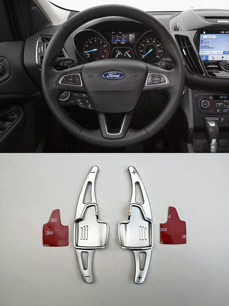 Pinalloy Silver Metal DSG Paddle Shifter Extensions for Ford Focus 2015-2018 Escape Ecosport - Pinalloy Online Auto Accessories Lightweight Car Kit