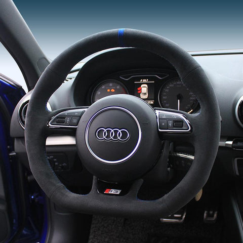 Pinalloy Synthetic Cashmere Steering Wheel Cover for Audi S3 S5 SQ5 RS5 RS7