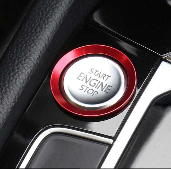 Pinalloy Car Start Engine Stop Button Cover Trim For VW Golf 7 MK7 GTI R Jetta CC Arteon - Pinalloy Online Auto Accessories Lightweight Car Kit