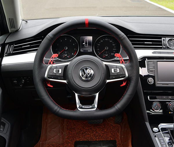 Pinalloy Leather Steering Wheel Cover for Volkswagen MAGOTAN B8L VW MK 7 GTI R Line CC - Pinalloy Online Auto Accessories Lightweight Car Kit