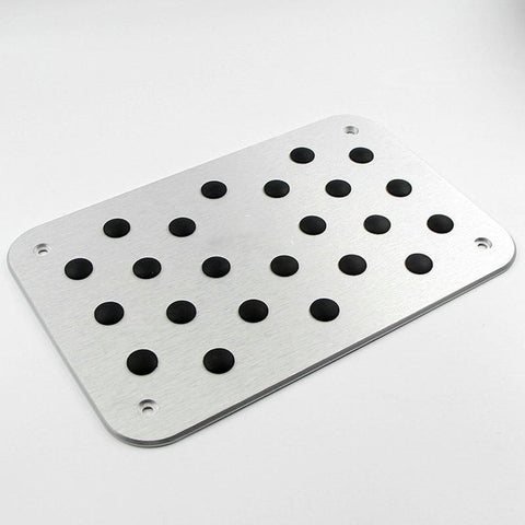 Pinalloy Universal Car Auto Aluminum Floor Carpet Mat Pad Plate Pedal Foot Rest (Silver) - Pinalloy Online Auto Accessories Lightweight Car Kit