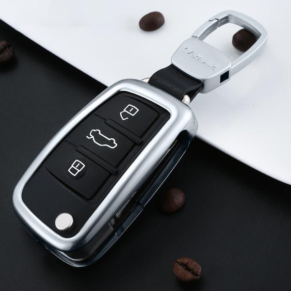 Aluminum Remote Flip Key Cover Case Skin Shell for Audi A3 A4 TT - Pinalloy Online Auto Accessories Lightweight Car Kit