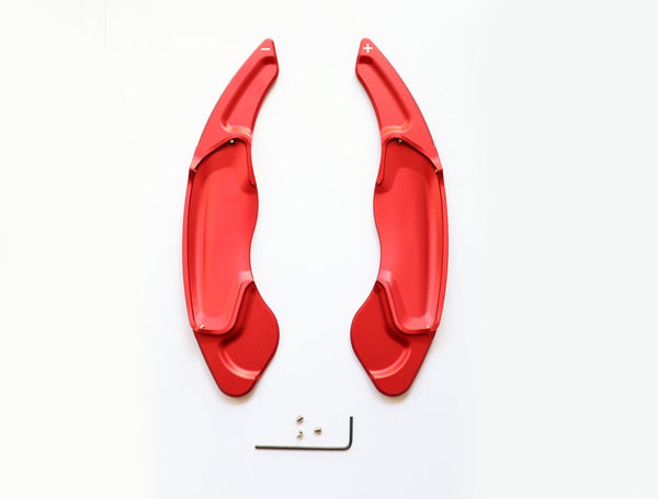 Red Aluminum DSG Paddle Shift Extensions for 2014-17 Volvo V40 S60 V60 SC60 - Pinalloy Online Auto Accessories Lightweight Car Kit
