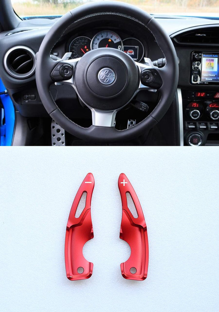 Aluminum Red DSG Paddle Shift Extensions for Toyota GT86 Subaru BRZ 2017-2019 - Pinalloy Online Auto Accessories Lightweight Car Kit