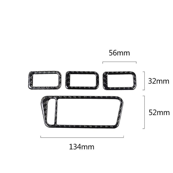 Pinalloy ABS Carbon Fiber Lifting Patch Frame Interior Accessories for Volkswagen VW MK7 - Pinalloy Online Auto Accessories Lightweight Car Kit