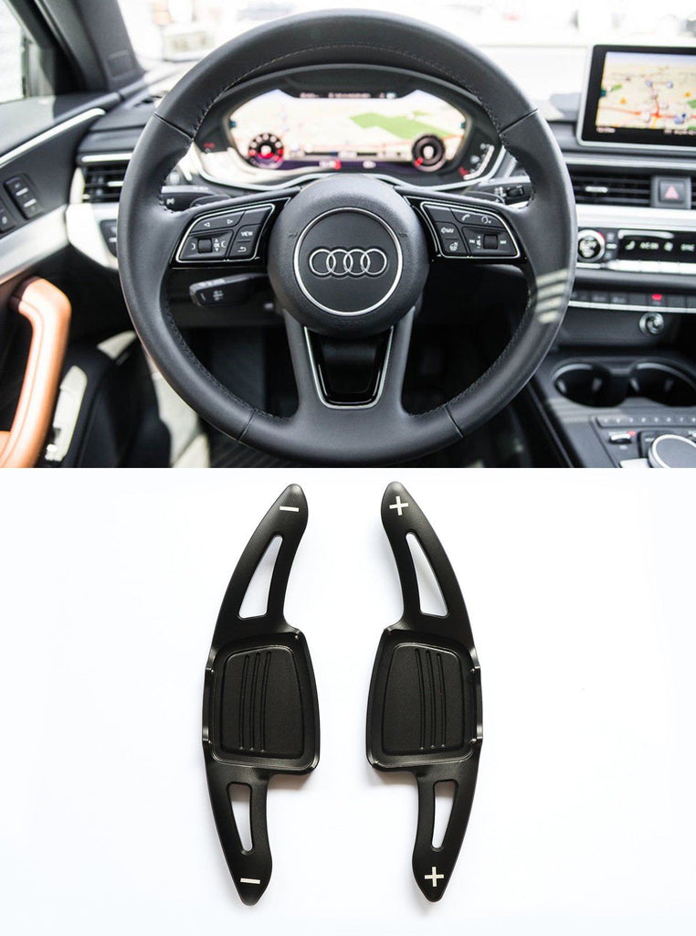 Aluminum DSG Paddle Shift Extensions for Automatic Audi A/S/Q Series TT TTS (Black) - Pinalloy Online Auto Accessories Lightweight Car Kit