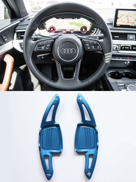 Aluminum DSG Paddle Shift Extensions for Automatic Audi A/S/Q Series TT TTS (Blue) - Pinalloy Online Auto Accessories Lightweight Car Kit