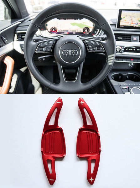 Aluminum DSG Paddle Shift Extensions for Automatic Audi A/S/Q Series TT TTS (Red) - Pinalloy Online Auto Accessories Lightweight Car Kit