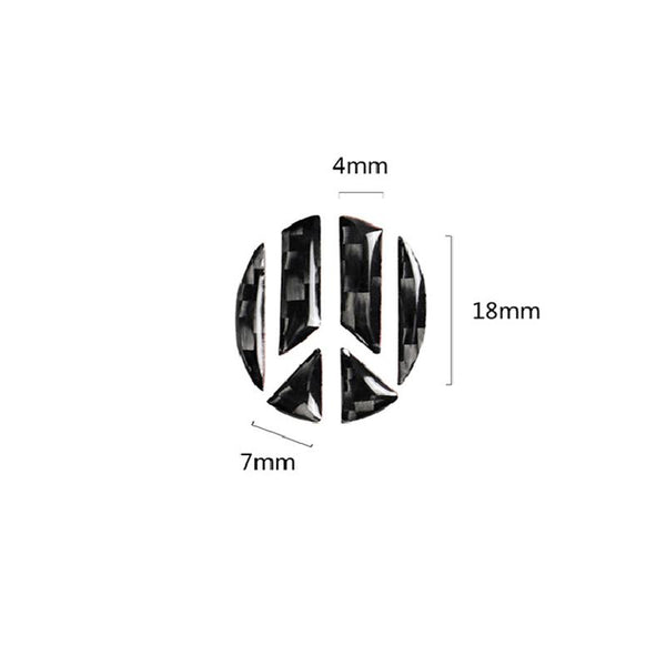 Pinalloy Steering Wheel Carbon Fiber Sticker Badge Emblem for Volkswagen VW - Pinalloy Online Auto Accessories Lightweight Car Kit