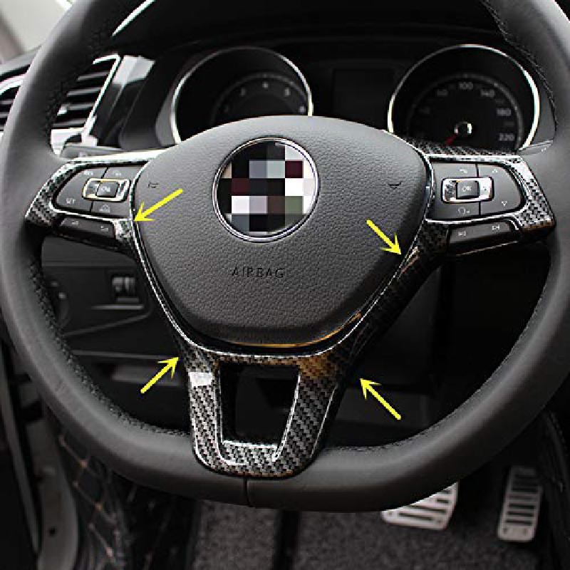 Carbon Fiber ABS Steering Wheel Trim Cover for VW Sport Style