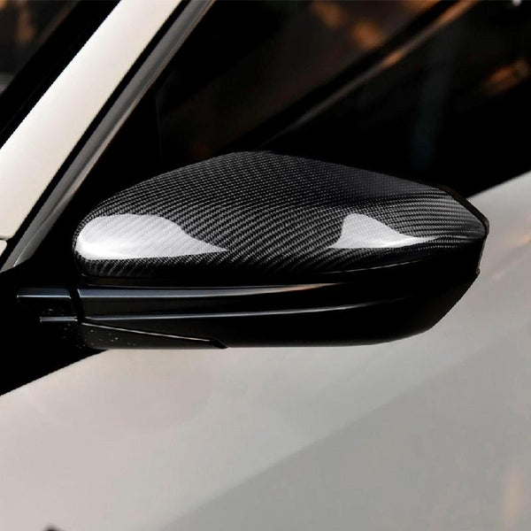 Pinalloy Real Carbon Fiber Side Door Mirror Caps For Honda Civic 2016 - 2018 - Pinalloy Online Auto Accessories Lightweight Car Kit