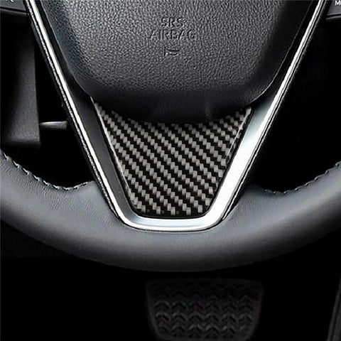 Carbon Fiber Steering Wheel Molding Stickers for Toyota Camry 2018