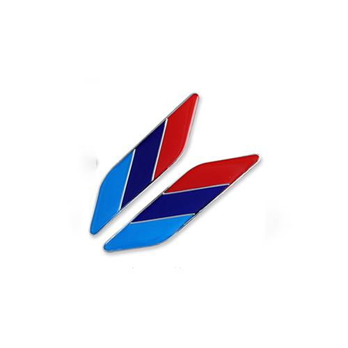 (Set of 2pcs) Pinalloy Chrome Car Sticker Emblem with National Flag - Pinalloy Online Auto Accessories Lightweight Car Kit