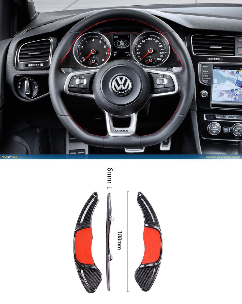 Pinalloy Carbon Fiber DSG Paddle Shift Extensions for VW Golf MK7 GTi R (Gross Dry Prepreg Cloth) - Pinalloy Online Auto Accessories Lightweight Car Kit