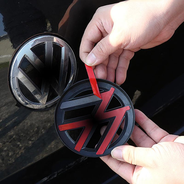 ABS Made Front Black Emblem Badge Stickers For 2019 - 2020 VW Passat