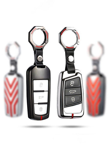 Pinalloy Chrome Car Key Case Cover for Volkswagen VW Golf 7 MK7 7.5 Polo CC Type R - Pinalloy