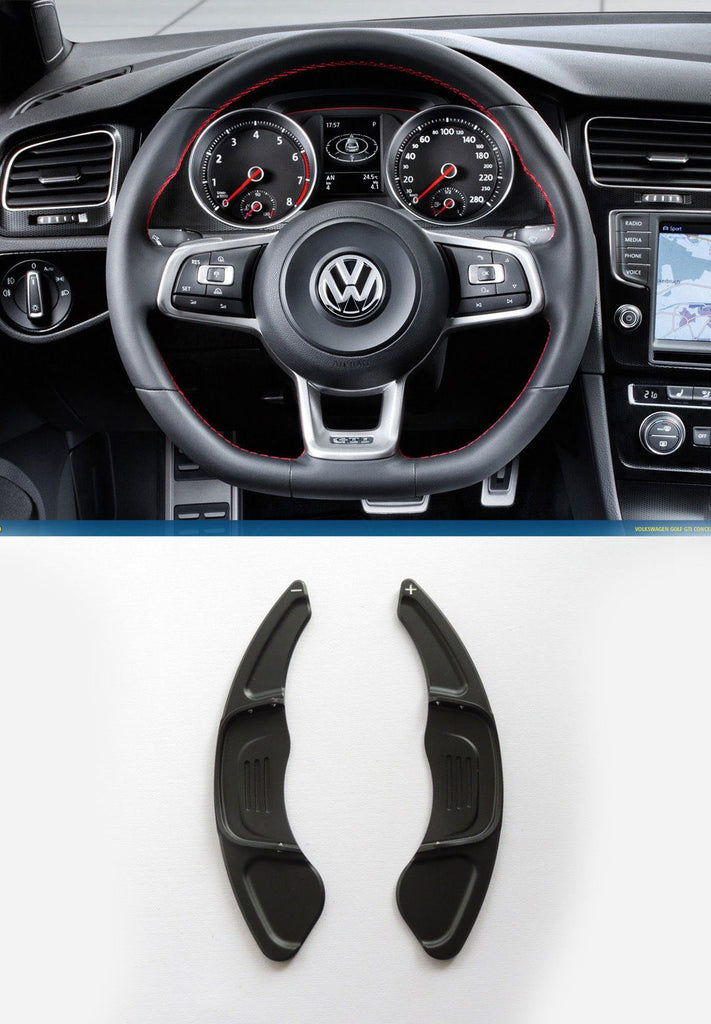 Pinalloy Black Steering Paddle Shifter Extension VW Golf MK7 Scirocco GTi R