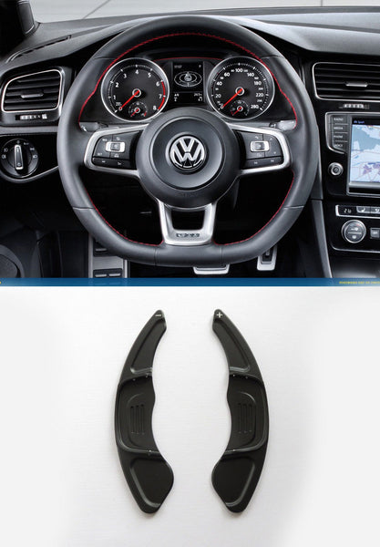 Pinalloy Black Steering Paddle Shifter Extension VW Golf MK7 Scirocco GTi R - Pinalloy Online Auto Accessories Lightweight Car Kit