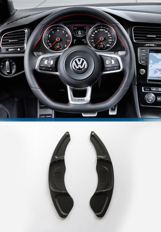 Pinalloy Black Steering Paddle Shifter Extension VW Golf MK7 Scirocco GTi R - Pinalloy