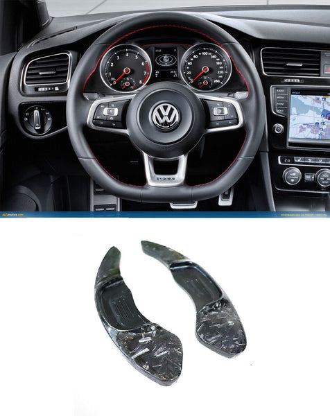 Forged Carbon Fiber DSG Paddle Shifter Extensions for Volkswagen Golf MK7 GTI R (Full Carbon Version) - Pinalloy Online Auto Accessories Lightweight Car Kit