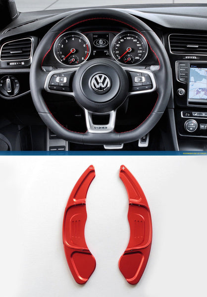 Pinalloy Red Steering Paddle Shifter Extension VW Golf MK7 Scirocco GTi R