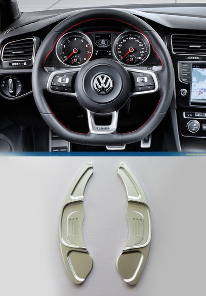 Pinalloy Silver Steering Paddle Shifter Extension VW Golf MK7 Scirocco GTi R - Pinalloy Online Auto Accessories Lightweight Car Kit