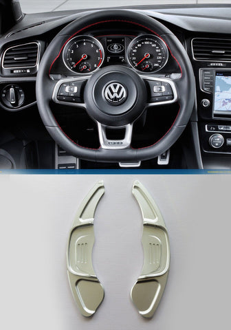 Pinalloy Silver Steering Paddle Shifter Extension VW Golf MK7 Scirocco GTi R