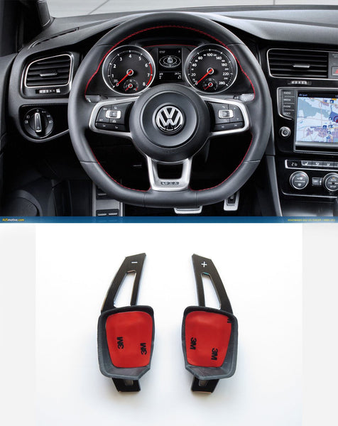 V2 Pinalloy Black Alloy DSG Paddle Shifter Extension Steering Wheel VW Golf Scirocco MK5 6 / SEAT Leon (Version 2)