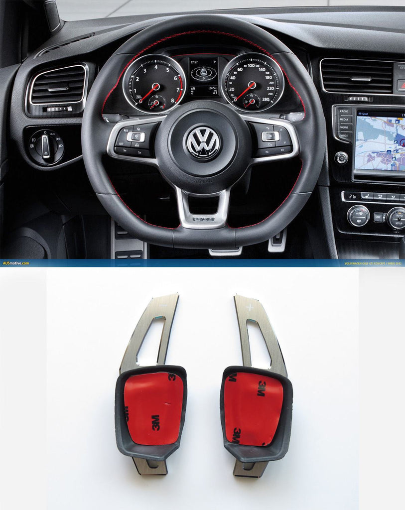 V2 Pinalloy Silver Alloy DSG Paddle Shifter Extension Steering Wheel VW Golf Scirocco MK5 6 / SEAT Leon (Version 2) - Pinalloy