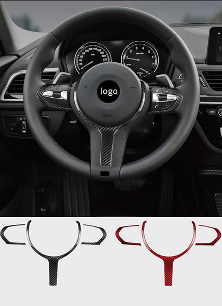 Real Carbon Fiber Steering Wheel Interior Modification Part for Bimmer F10 (5 series) / F30 (3 series)