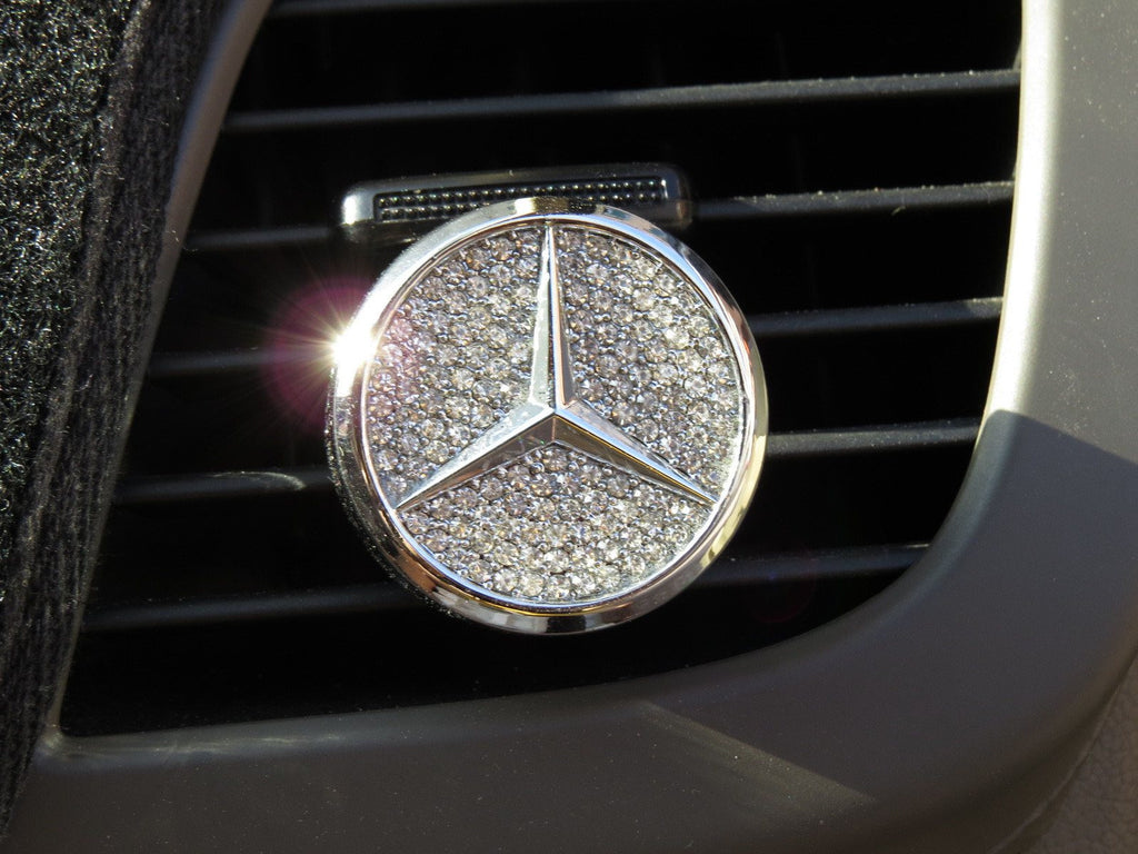 Pinalloy Car Air Freshener Fragrance Perfume With Mercedes Benz Emblem