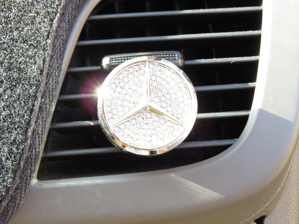 Pinalloy Car Air Freshener Fragrance Perfume with Mercedes Benz Emblem Logo - Pinalloy Online Auto Accessories Lightweight Car Kit