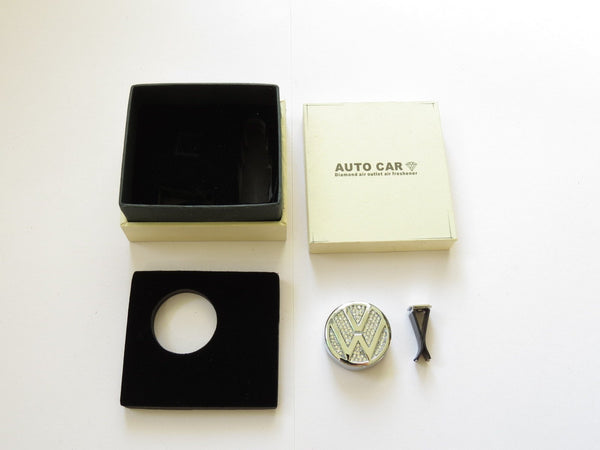 Pinalloy Car Air Freshener Fragrance Perfume with VW Volkwagen Emblem Logo - Pinalloy