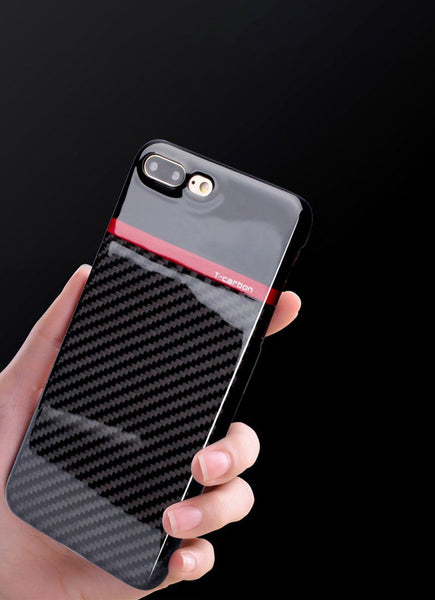 Pinalloy New 100% Real Black Carbon Fiber Matt / Glossy Case Cover for iPhone 7/8 4.7 5.5 inch - Pinalloy
