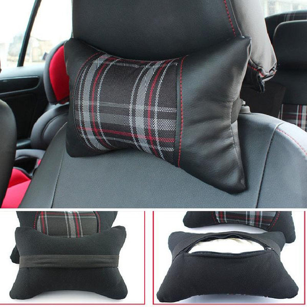Pinalloy Scotland Pattern Cotton Headrest Neck Pillow - Pinalloy Online Auto Accessories Lightweight Car Kit